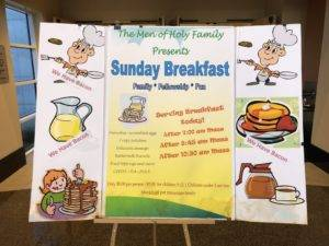 Sunday Fellowship Breakfasts @ Holy Family Catholic Church